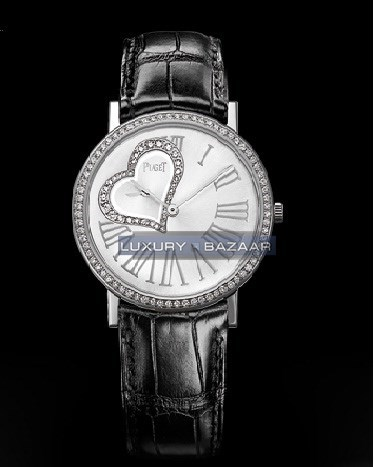 Altiplano Funny Heart Diamond Watch (WG / Silver / Strap)