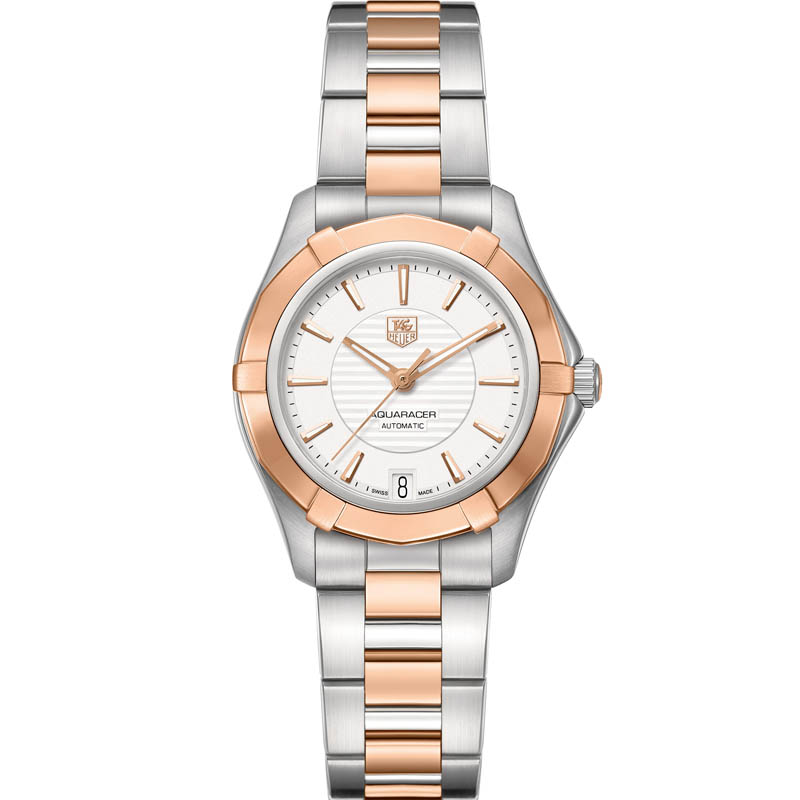 Aquaracer 34 mm Steel & Rose Gold Automatic Watch WAP2350.BD0838