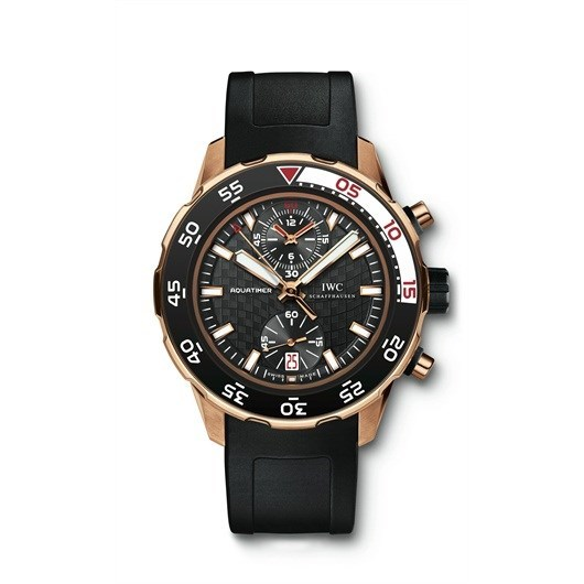 Aquatimer Chronograph (RG / Black / Rubber Strap)