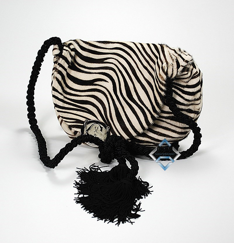 Zebra Print Handbag Calf Hair