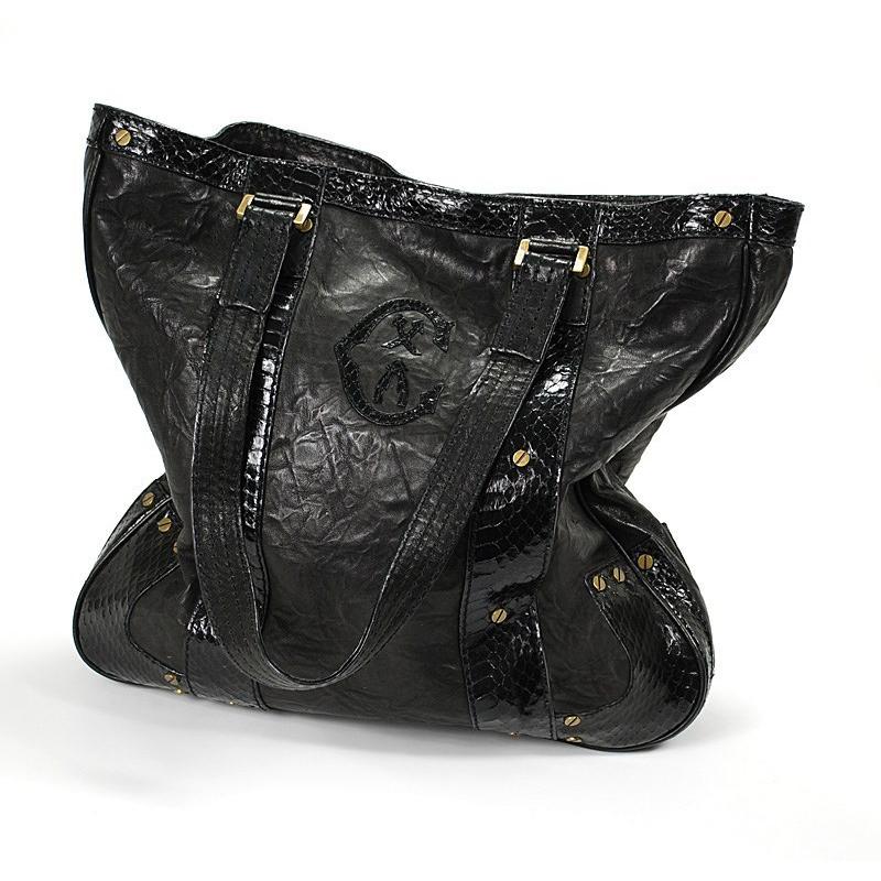 Roma Black Wrinkle Handbag BAGLECO.01.907