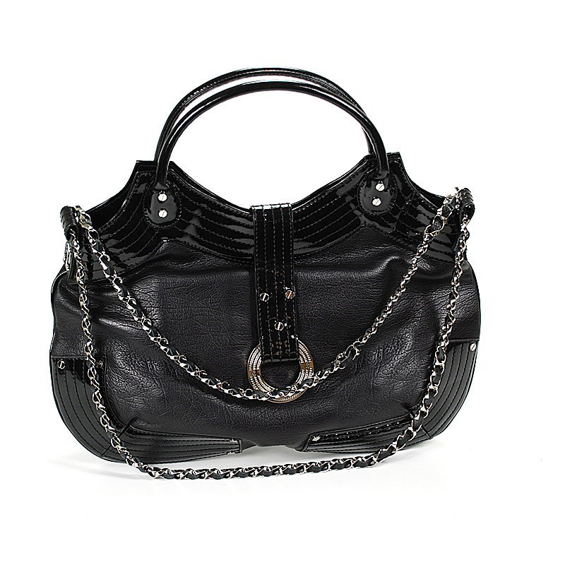 Escapade VIII Rio Large Black Patent Leather Handbag BAGLECO.1111.802L