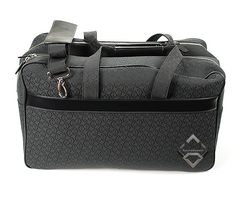 Men's Luggage Small Leather / Canvas Black