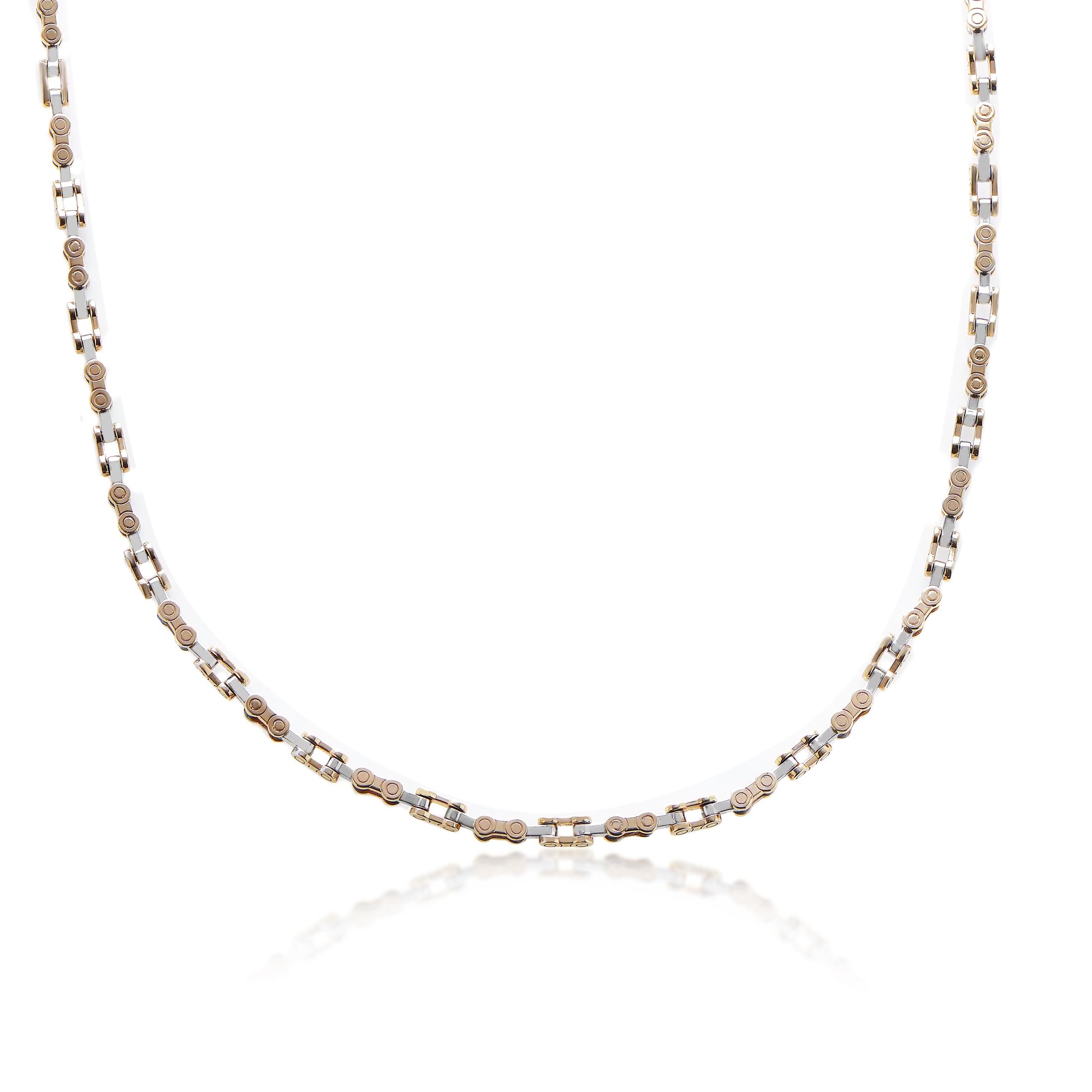 Baraka Women's 18K Multi-Tone Gold Chain Link Necklace