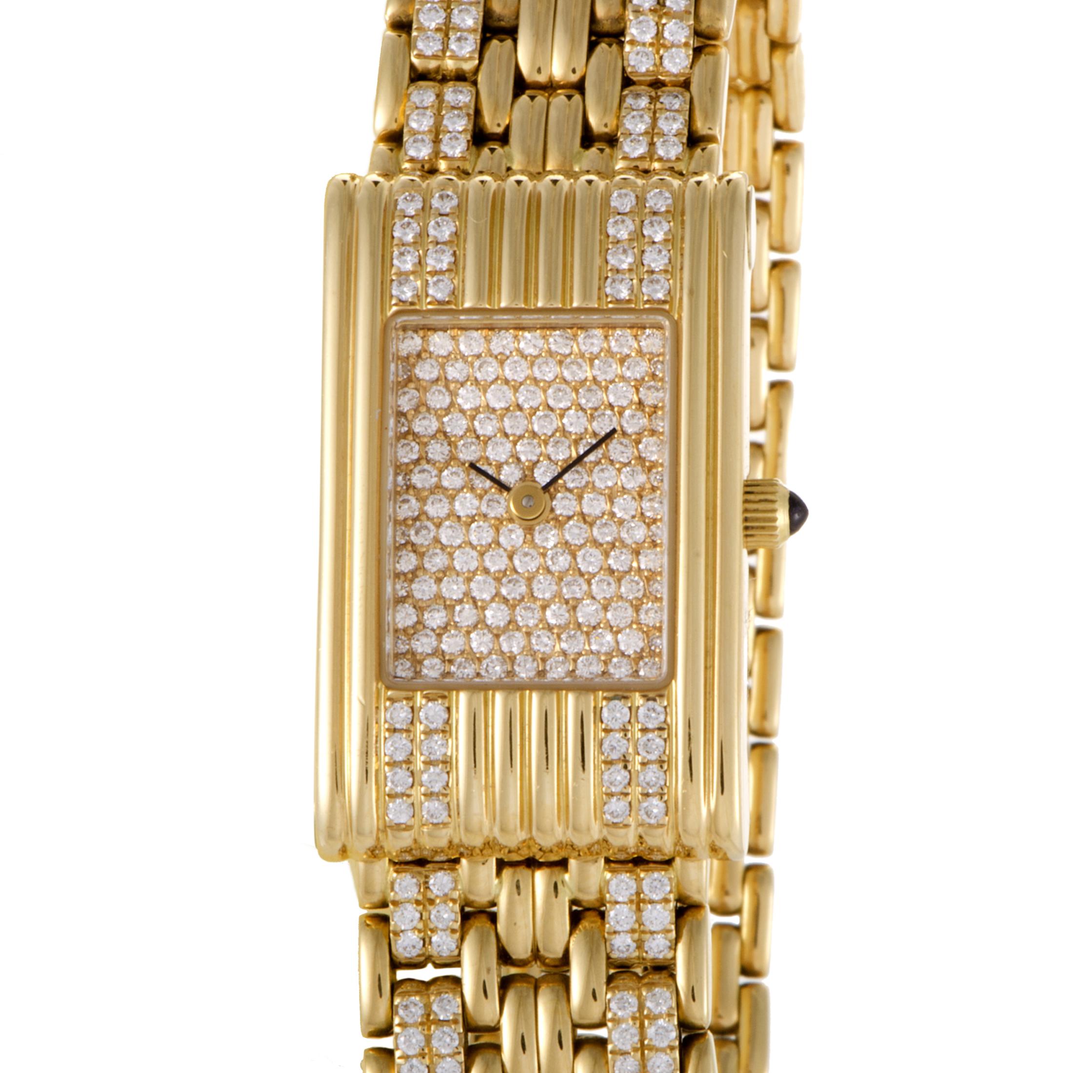 Boucheron Les Montres 18K Yellow Gold Diamond Watch with Interchangeable Straps