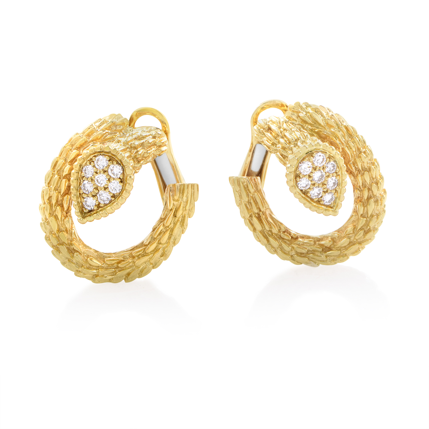 Boucheron Serpent Bohème Women's 18K Yellow Gold Diamond Earrings