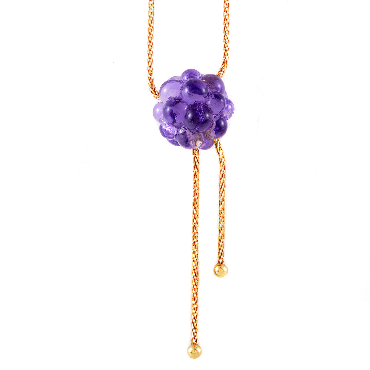 Boucheron Women's 18K Rose Gold Bubbled Amethyst Sphere Pendant Necklace