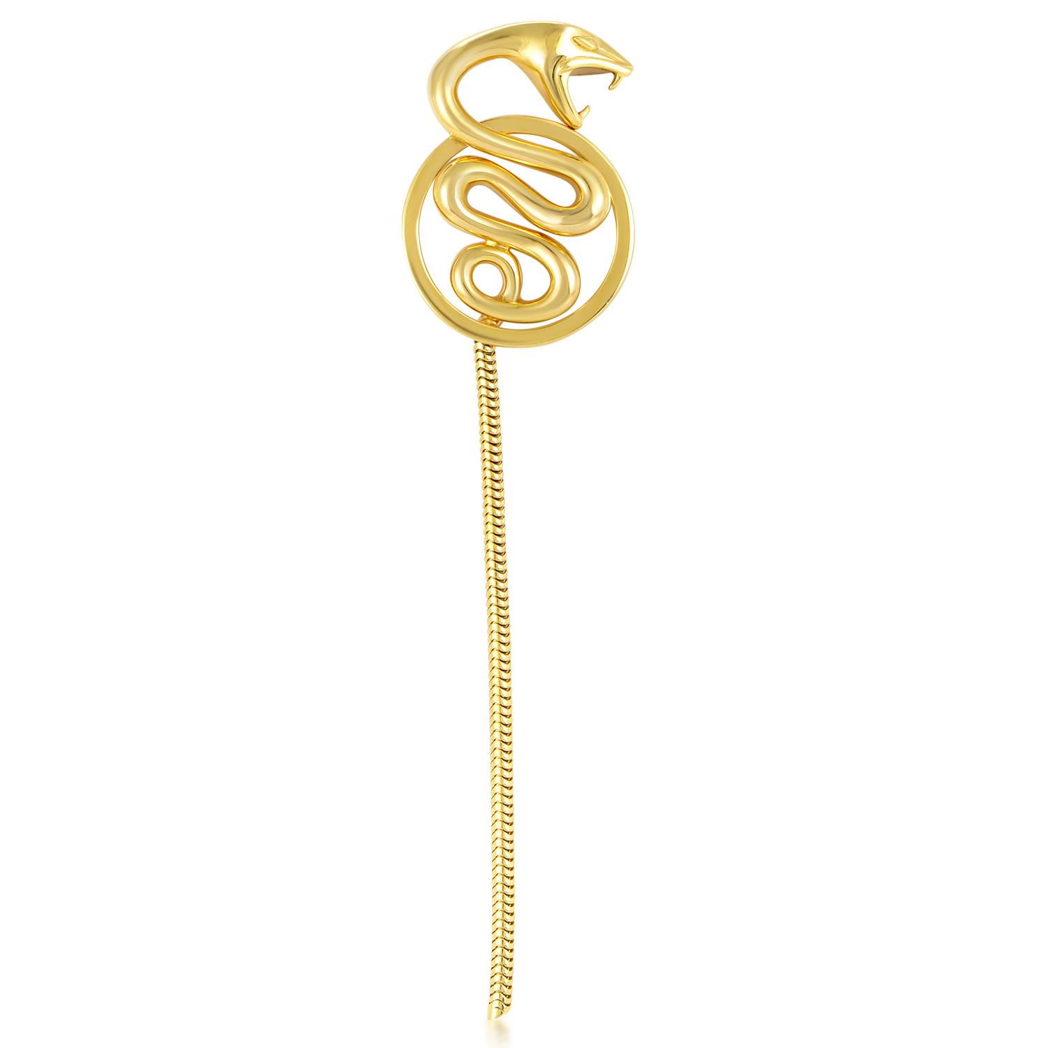 Boucheron Women's 18K Yellow Gold Long Tail Snake Pendant