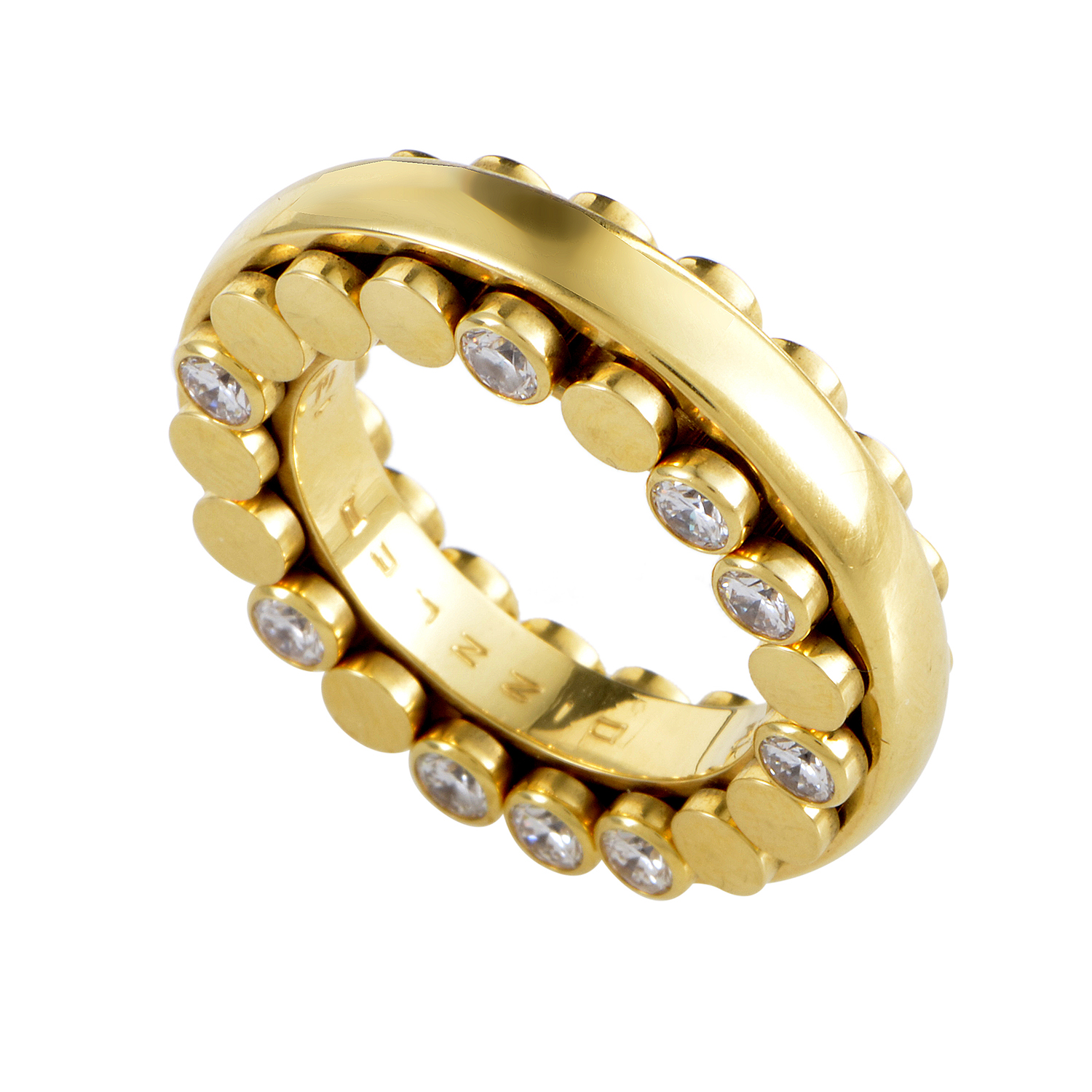 Dizzler 18K Yellow Gold Diamond Band Ring 0742-180-1