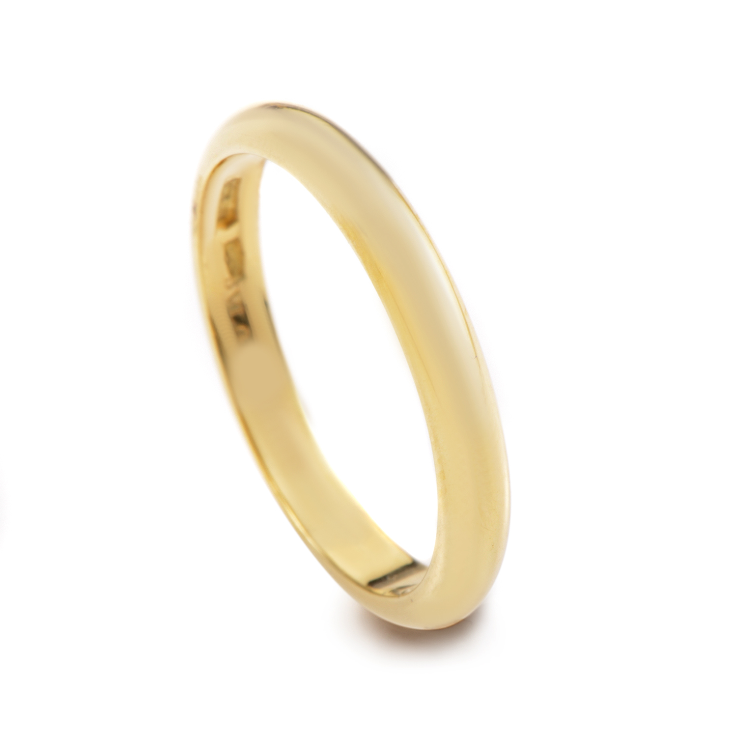 18K Yellow Gold Wedding Band A19318