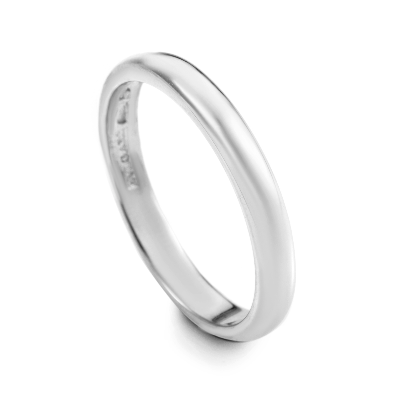 18K White Gold Wedding Band A19328