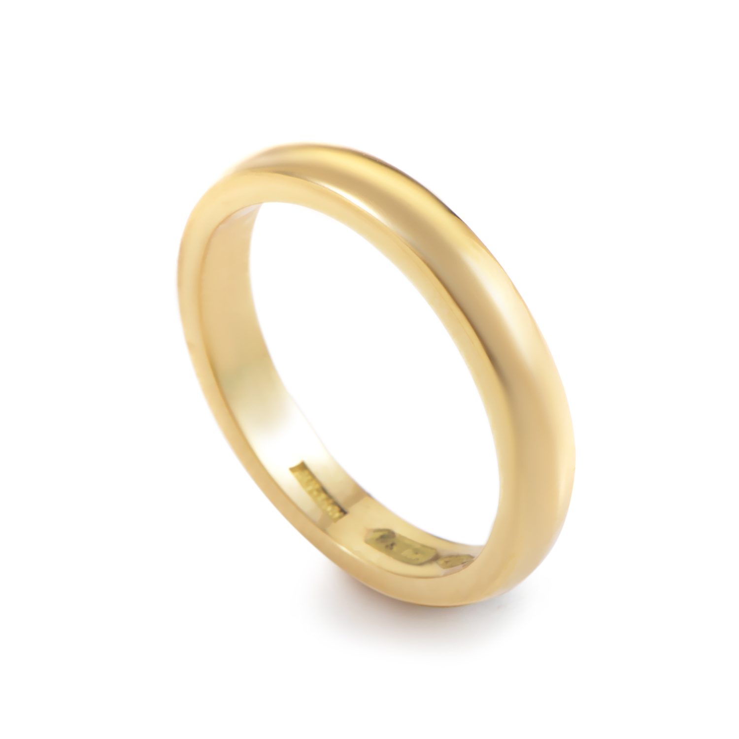 18K Yellow Gold Wedding Band A19330