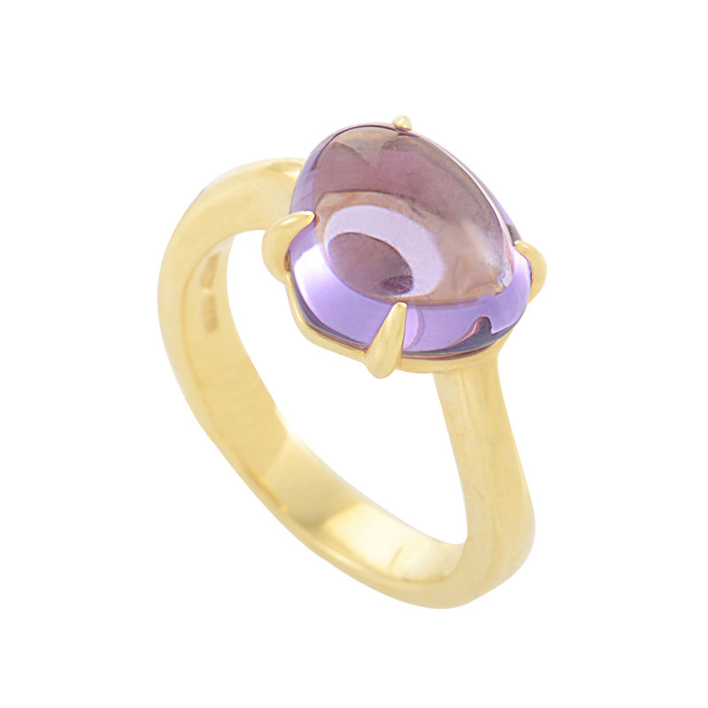 Sassi 18K Yellow Gold Amethyst Ring AN856008