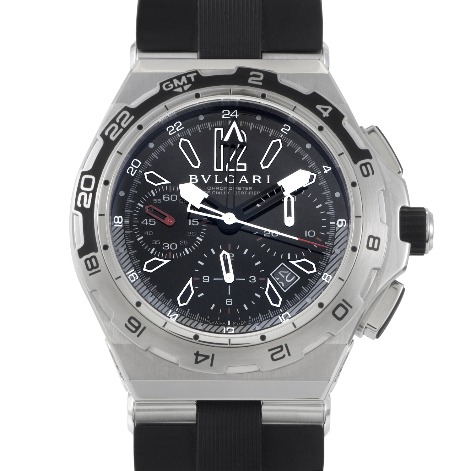 Diagono X-Pro Men's Stainless Steel Chronograph GMT DP45STVCH/GMT