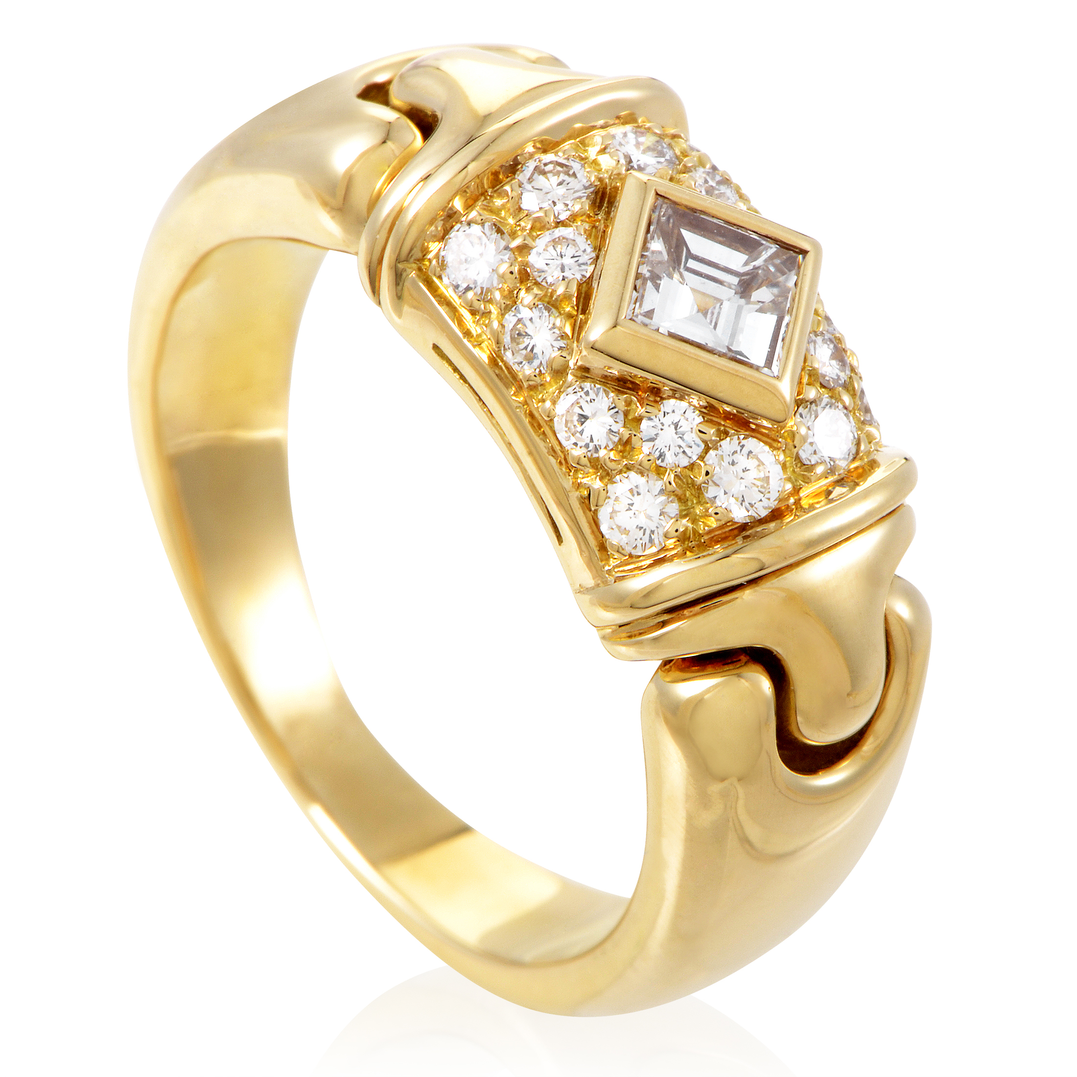 Bvlgari Women's 18K Yellow Gold Diamond Ring