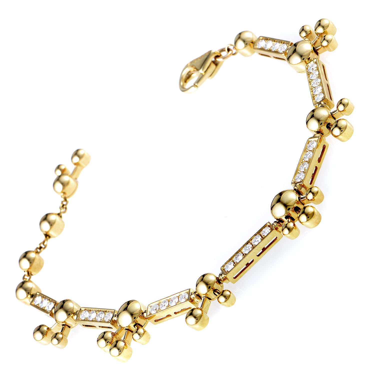 Bvlgari 18K Yellow Gold Diamond Bracelet 27871202