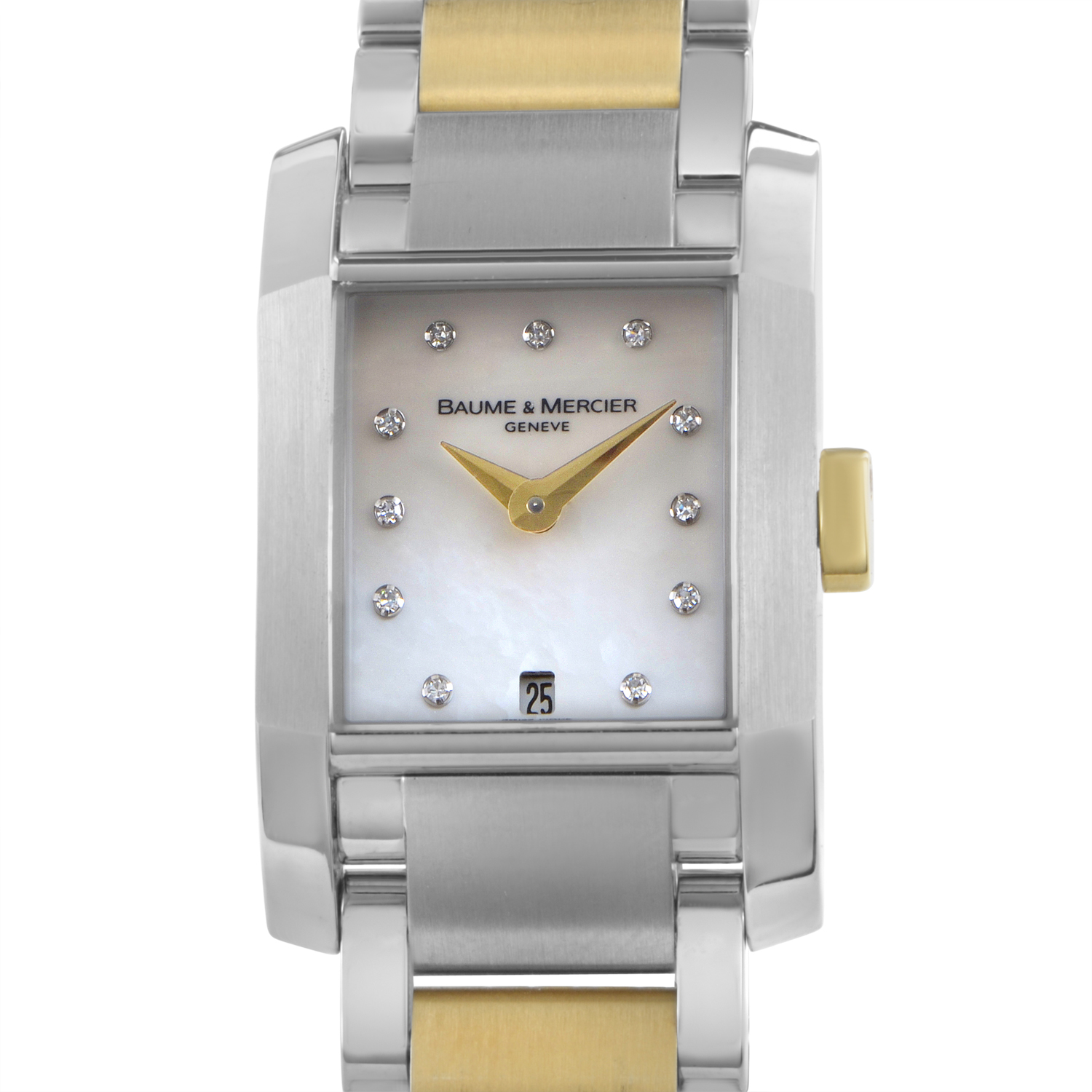 Diamant Ladies Stainless Steel & Yellow Gold Quartz Watch MOA08738