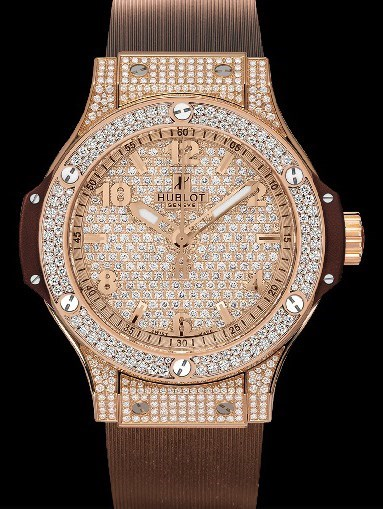 Big Bang 38mm Cappuccino Red Gold Full Pave Diamonds 361.PC.9010.RC.1704