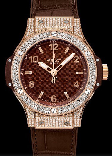 Big Bang 38mm Cappuccino Red Gold Pave Diamonds 361.PC.3380.LR.1704