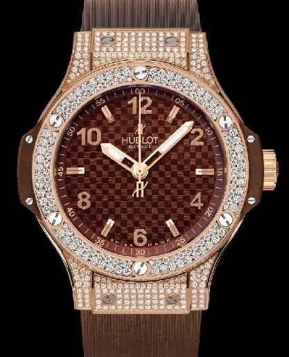 Big Bang 38mm Cappuccino Red Gold Pave Diamonds 361.PC.3380.RC.1704