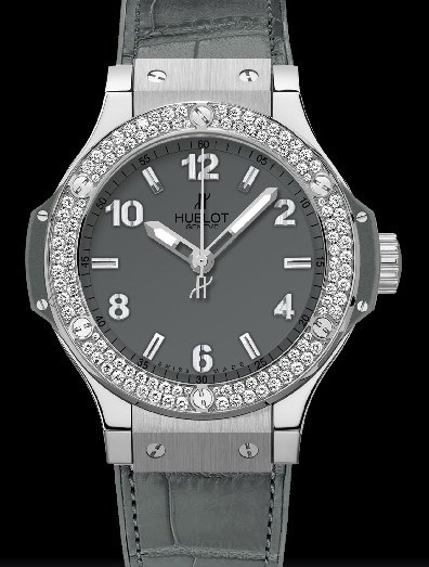 Big Bang 38mm Earl Gray Diamonds 361.ST.5010.LR.1104