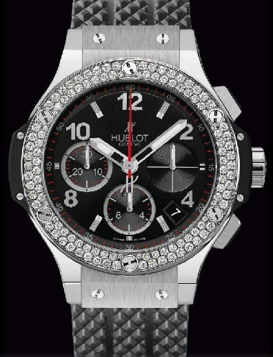 Big Bang 41mm Steel Diamonds 342.SX.130.RX.114