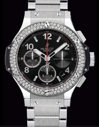 Big Bang 41mm Steel Diamonds Bracelet 342.SX.130.SX.114