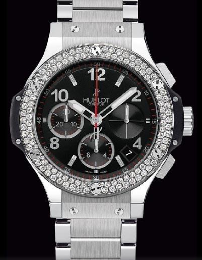 Big Bang 41mm Steel Diamonds Bracelet 342.SX.130.SX.114