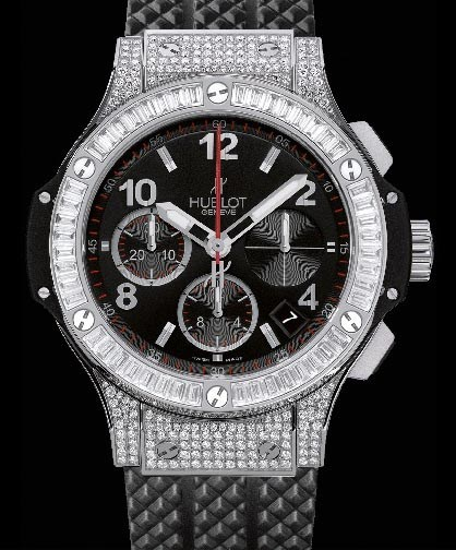 Big Bang 41mm Steel Pave 342.SW.130.RX.094