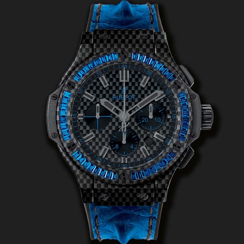 Big Bang Carbon Bezel Baguette Blue Sapphires 301.QX.1790.HR.1901