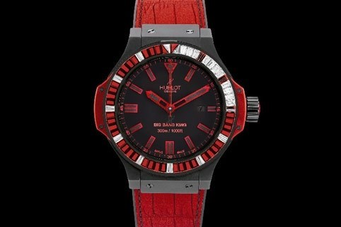 Big Bang King All Black Red Carat 322.CI.1130.GR.1942.ABR10