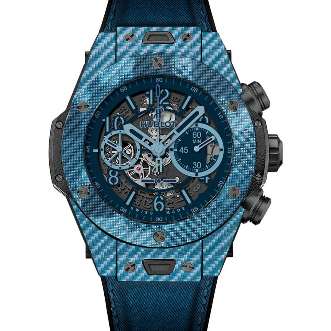 Big Bang Unico Italia Independent Blue 411.YL.5190.NR.ITI16