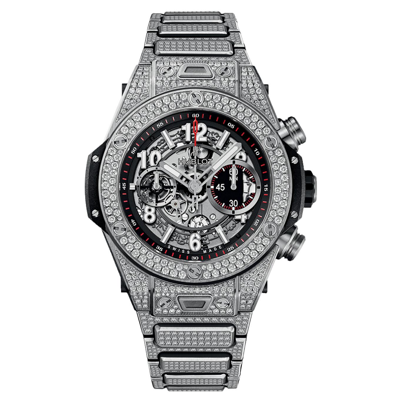 Big Bang Unico Titanium Pavé Bracelet 411.NX.1170.NX.3704