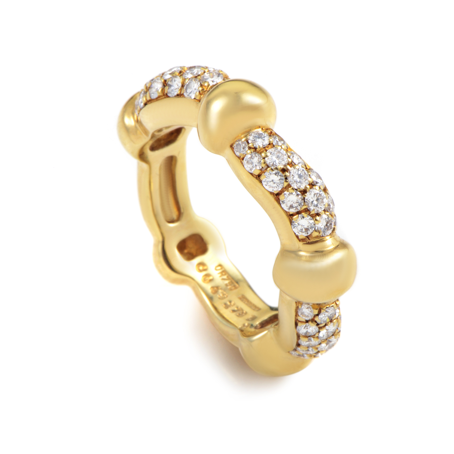 Boucheron 18K Yellow Gold Diamond Band Ring 26350413