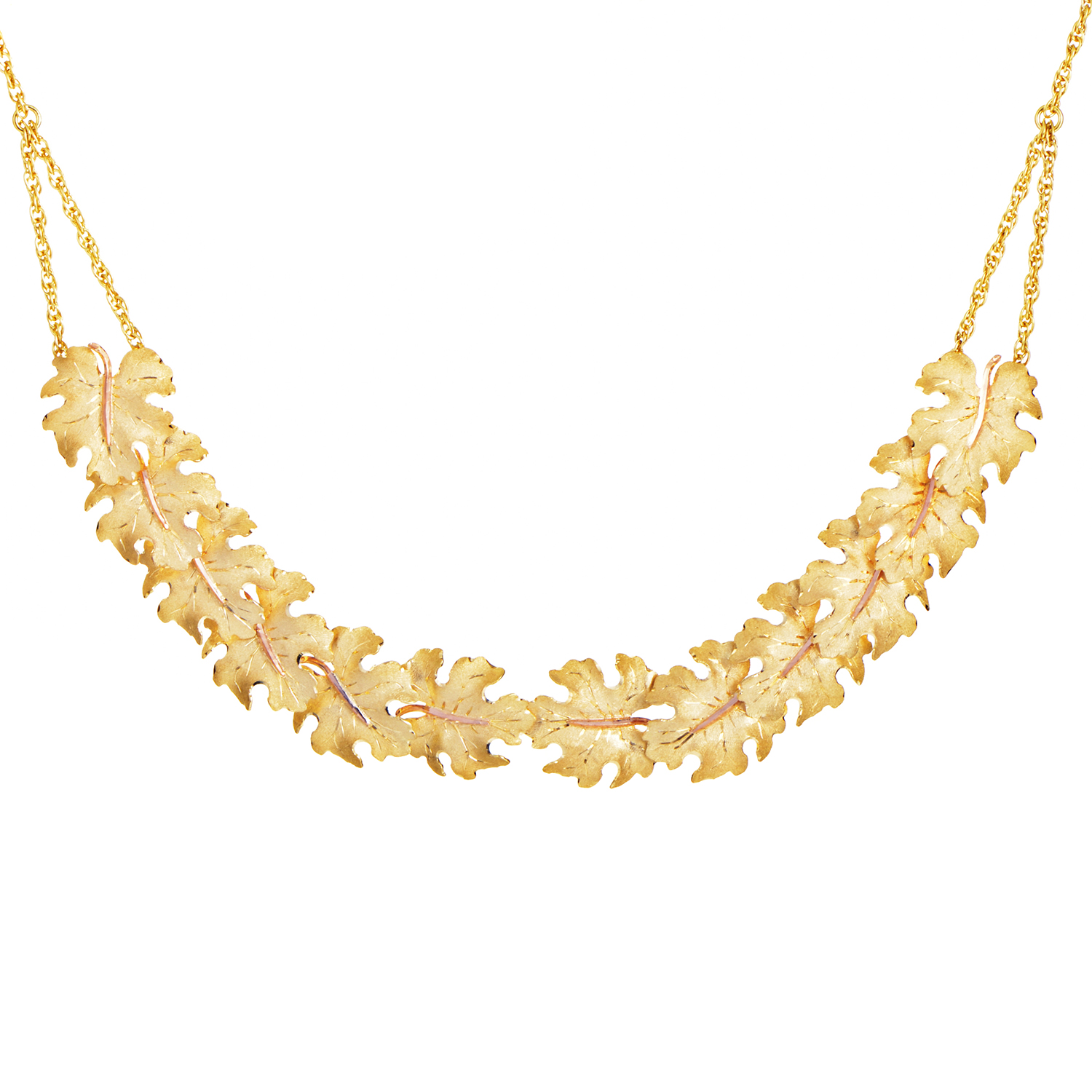 Foglie Acanto 18K Yellow Gold Necklace L5728