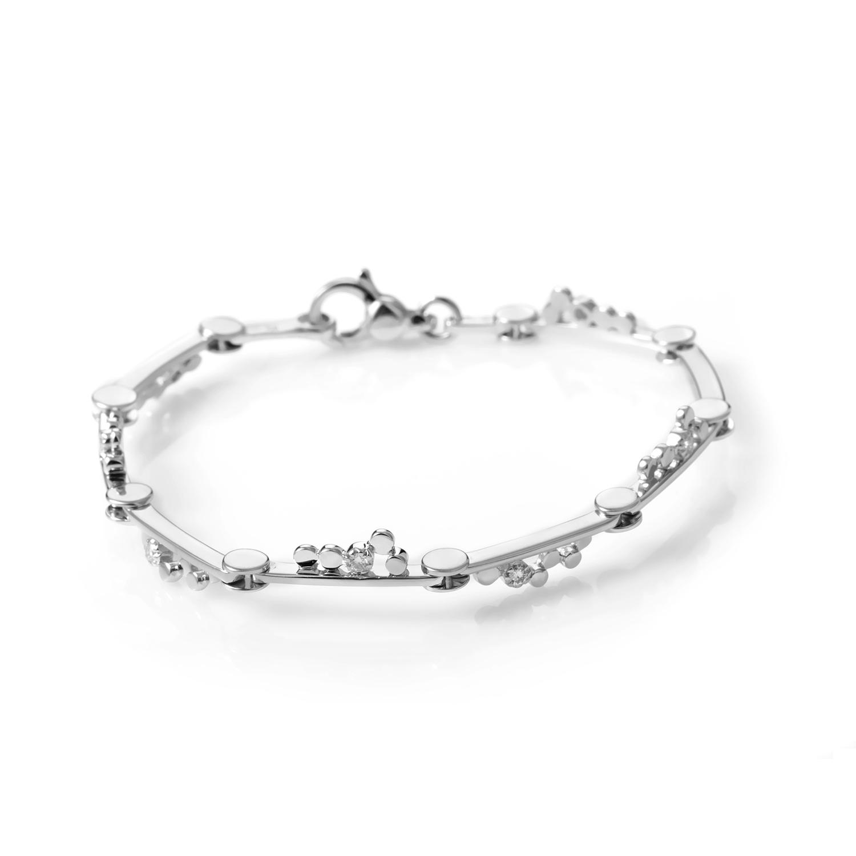 Women's 18K White Gold Diamond Bracelet 0712-956-4