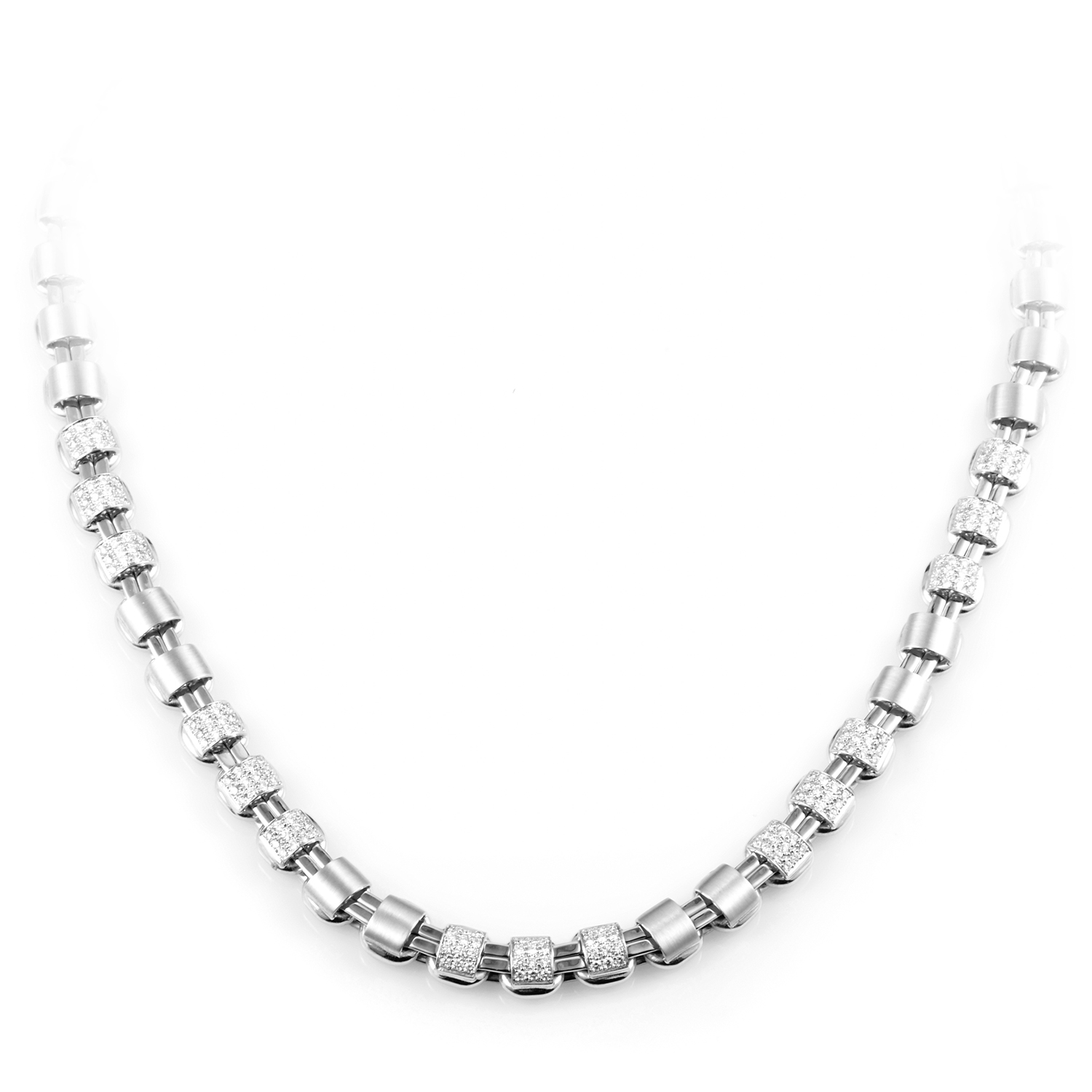 Women's 18K White Gold Diamond Choker Necklace
