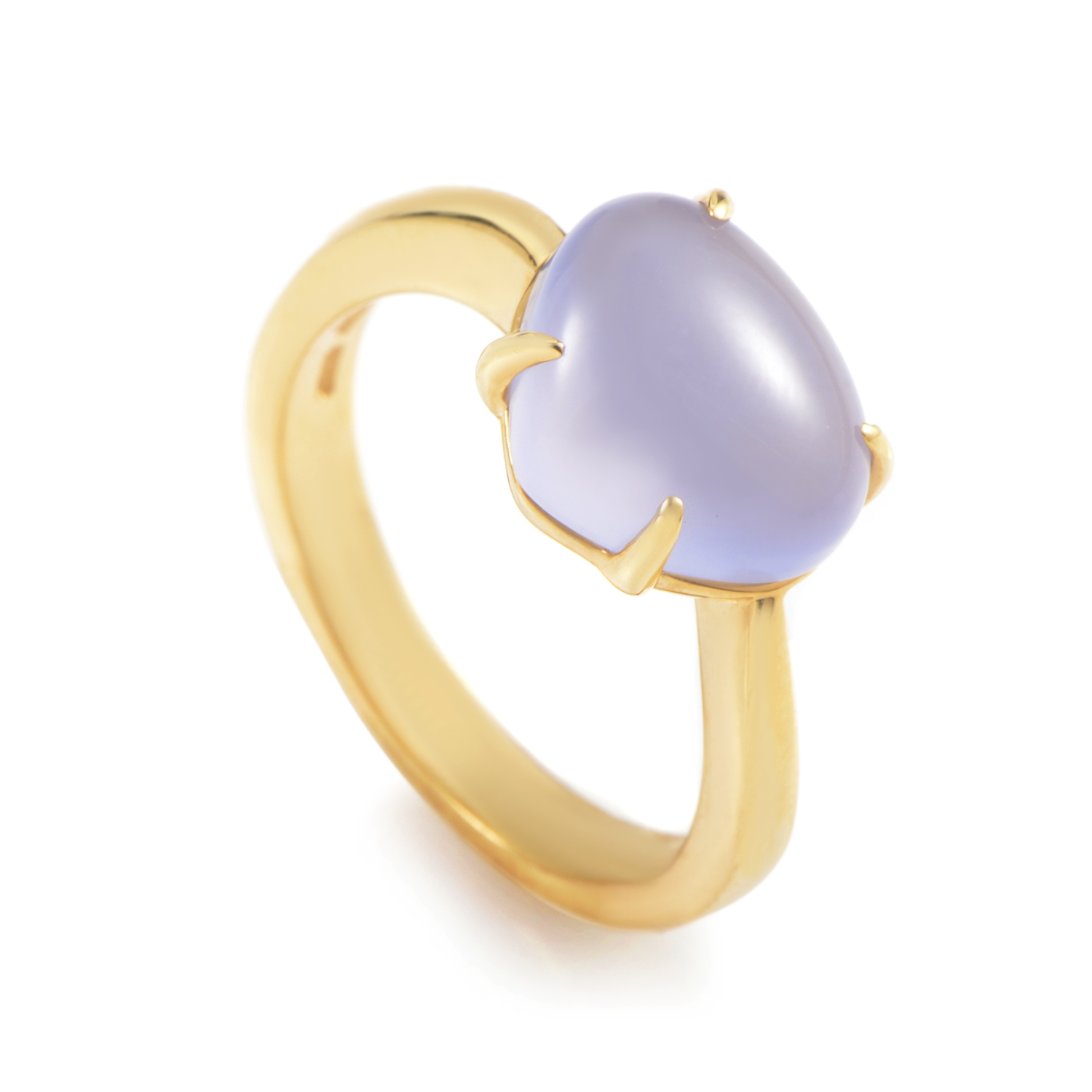 Sassi 18K Yellow Gold Blue Chalcedony Ring