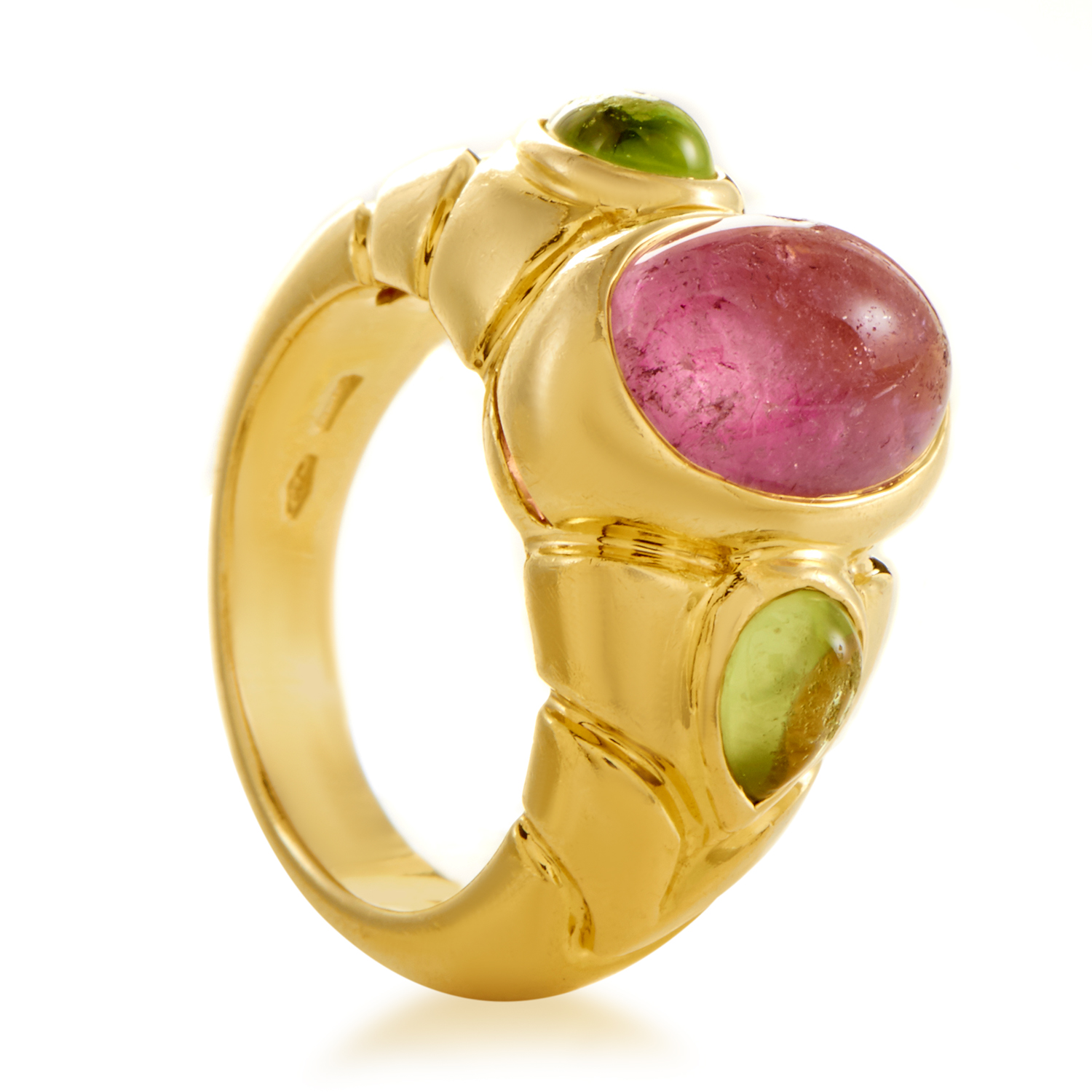 Bvlgari Women's 18K Yellow Gold Tourmaline & Peridot Ring