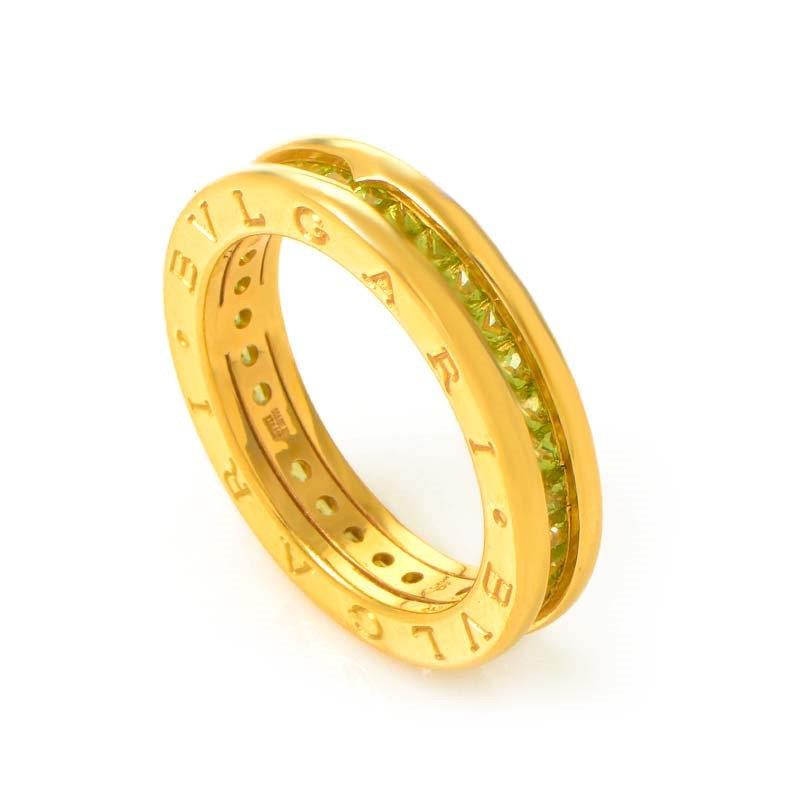 B.ZERO1 1 18K Yellow Gold Peridot Band Ring AN852560