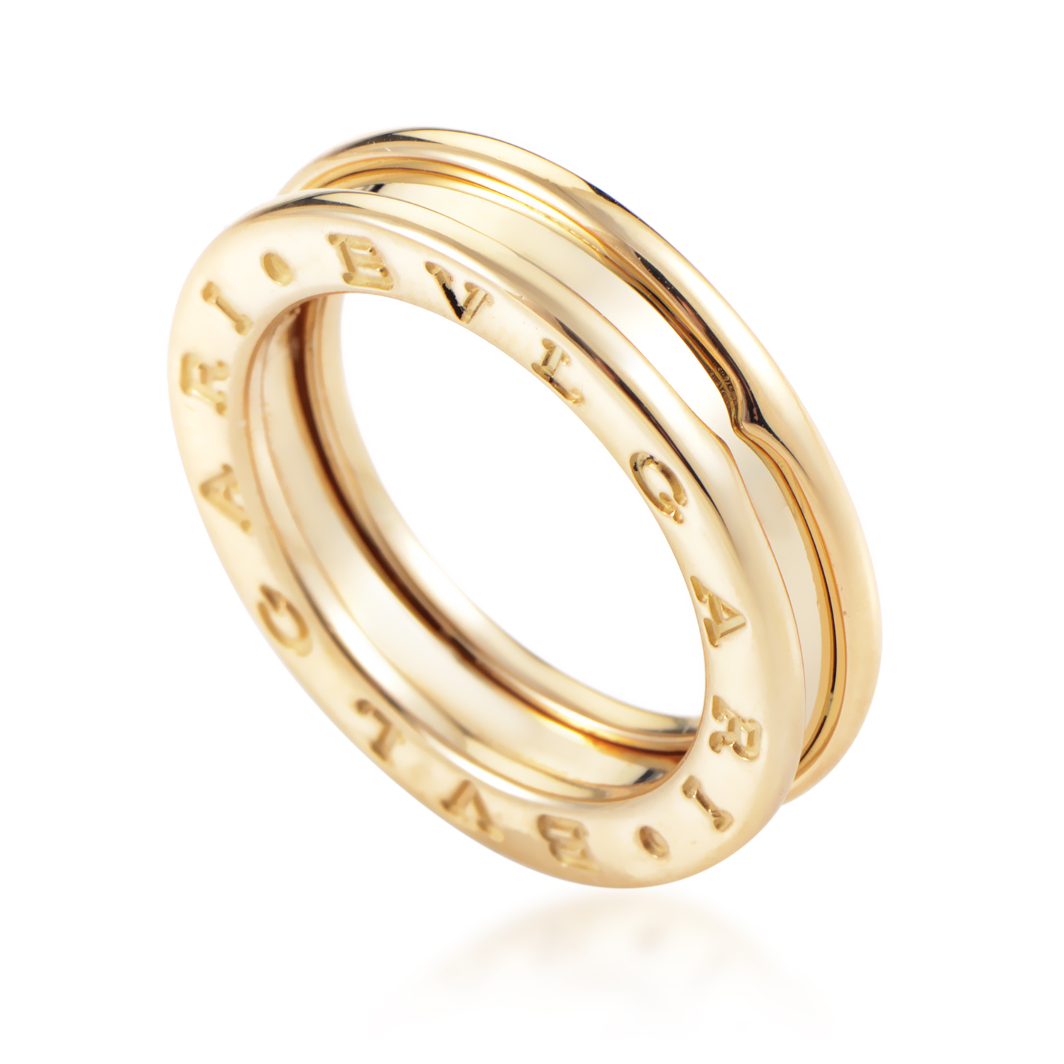 Bvlgari B.Zero 1 Women's 18K Yellow Gold Band Ring BVL06-070716