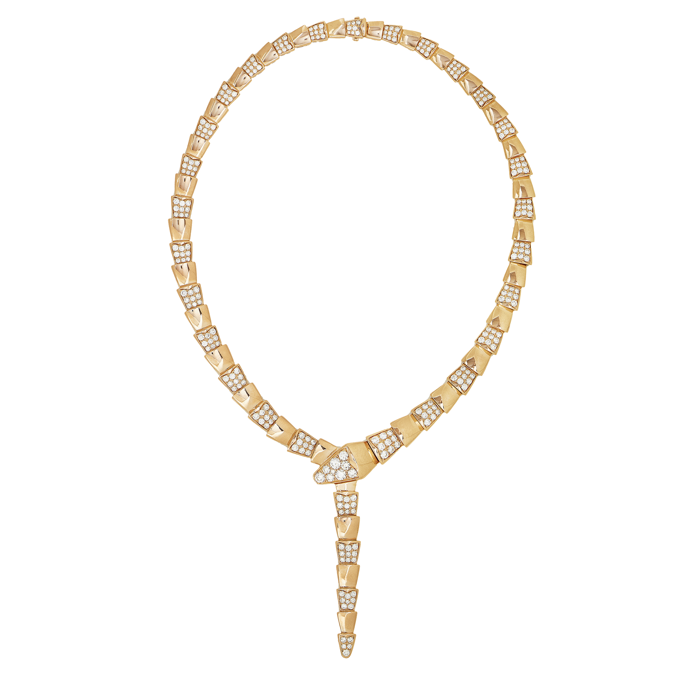 Serpenti Women's 18K Rose Gold Partial Diamond Pave Choker Necklace