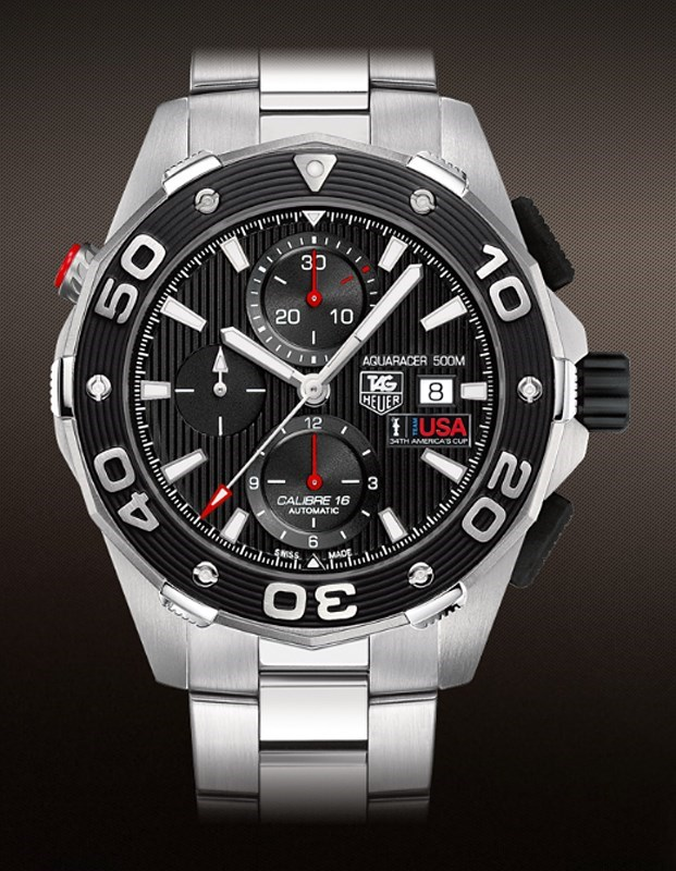 Aquaracer 500 M Caliber 16 Automatic Chronograph CAJ2111.BA0872