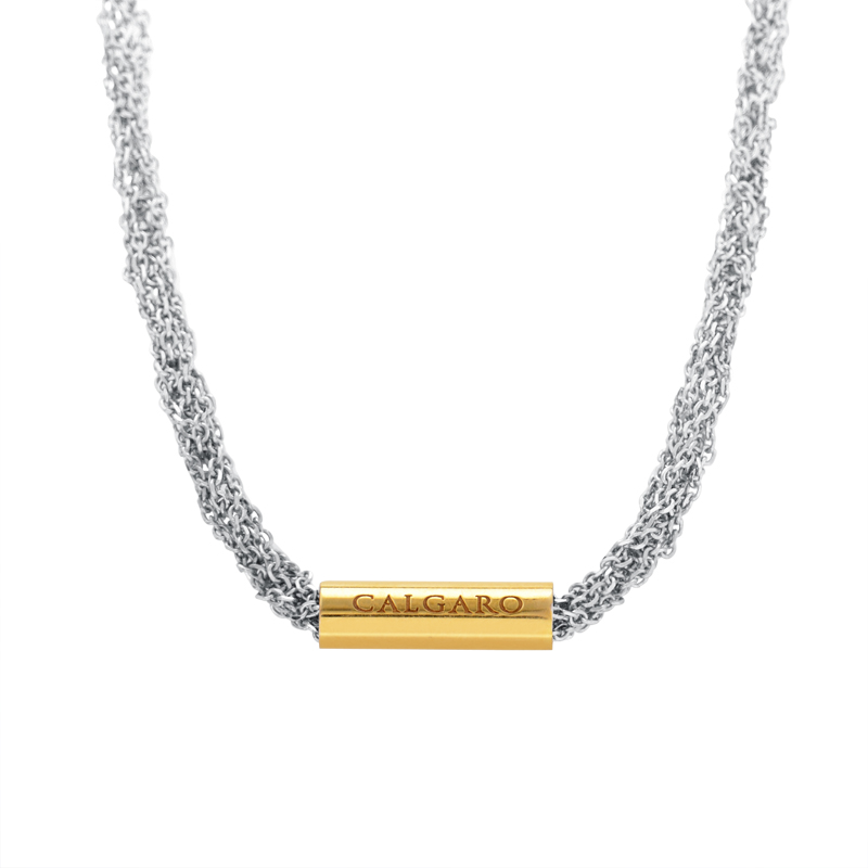 Women's 18K White & Yellow Gold Necklace BL62