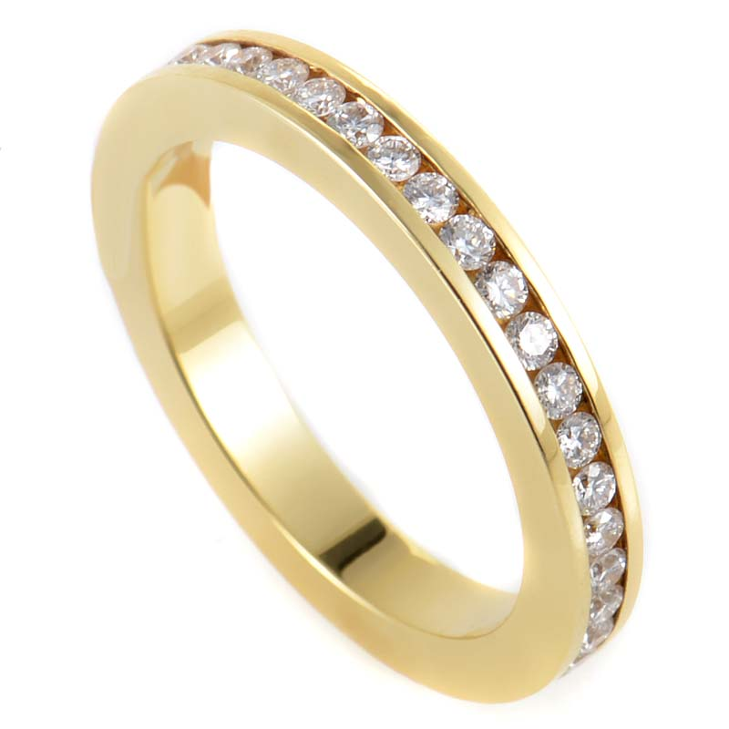 Mi Princesa 18K Yellow Gold & Diamond Eternity Band