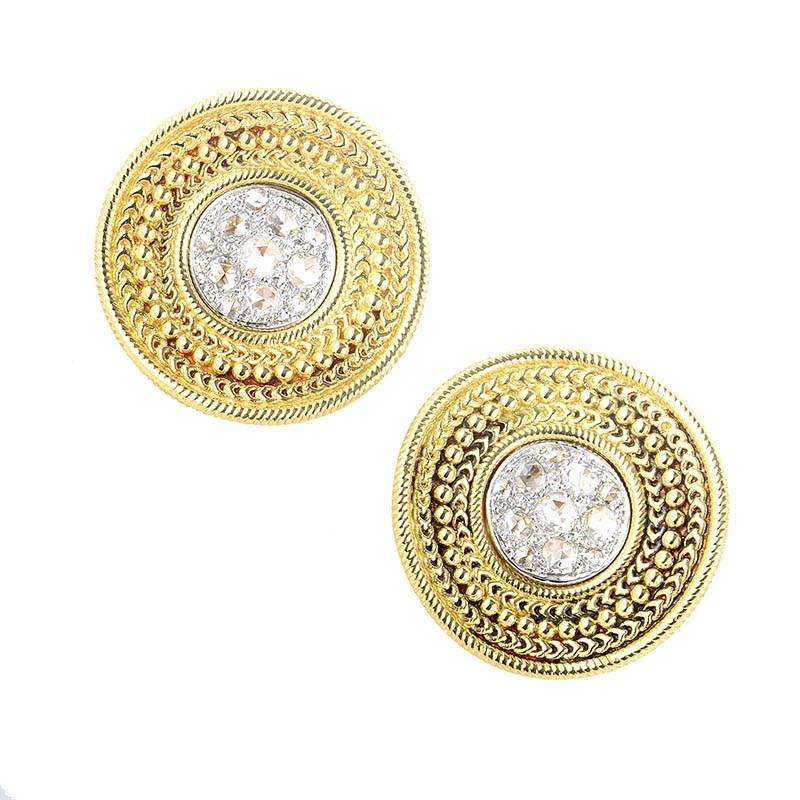 Ruedo Women's 18K Multi-Tone Gold & Diamond Earrings