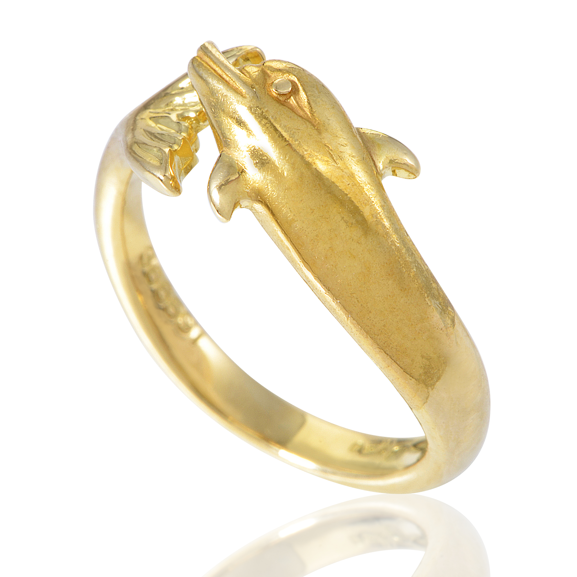 Carrera y Carrera Women's 18K Yellow Gold Dolphin Band Ring