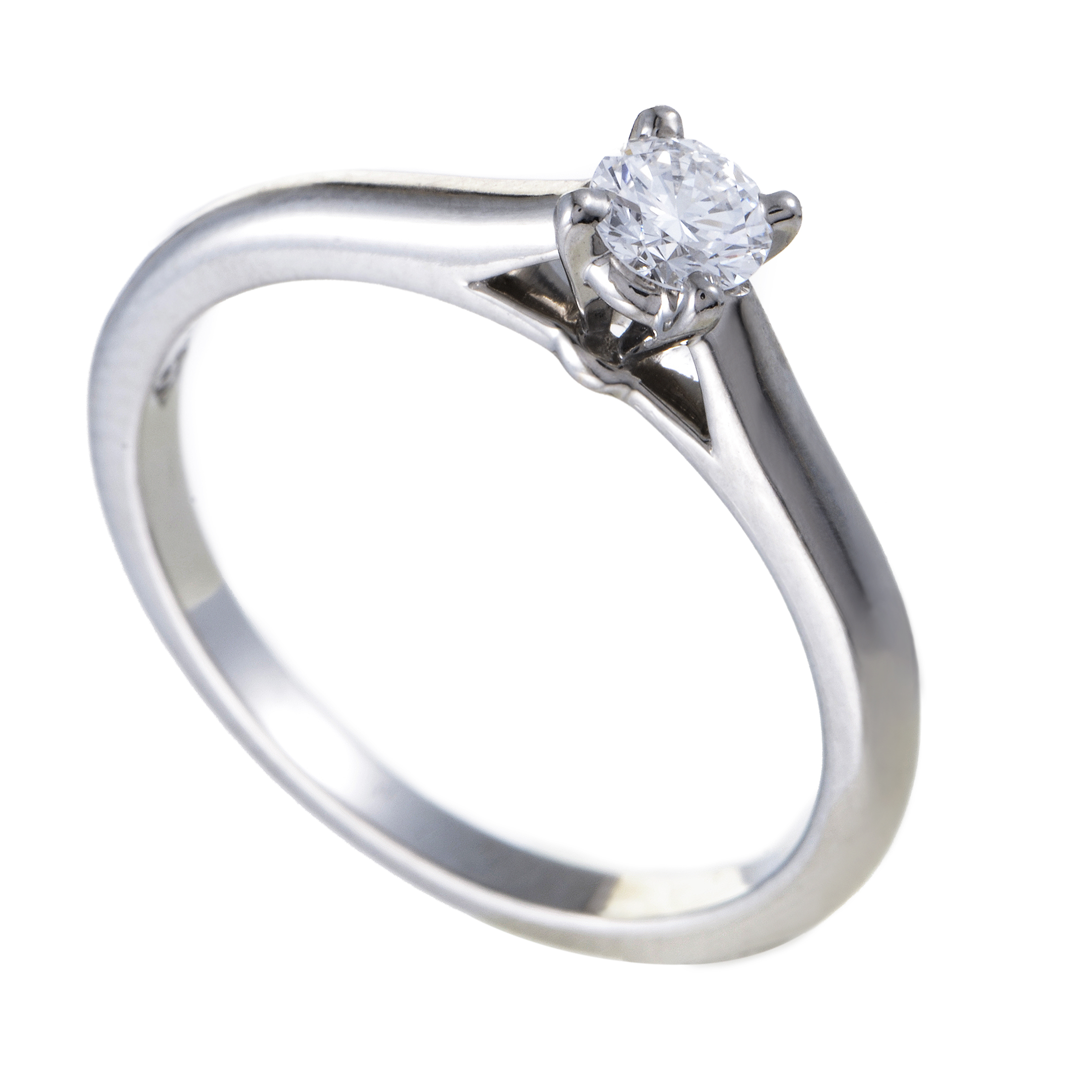 Cartier Platinum: Cartier Womens Platinum .19ct Diamond Solitaire Engagement