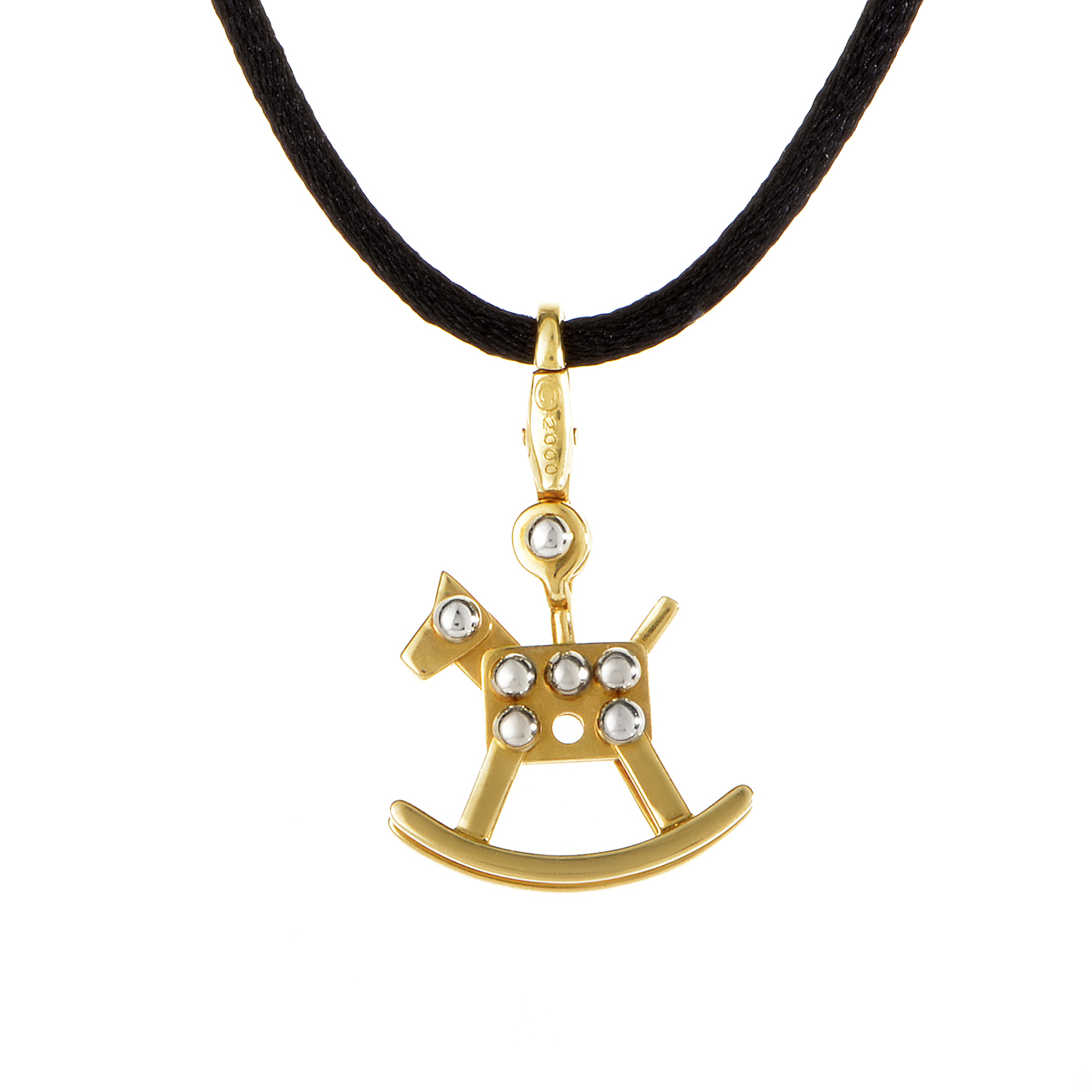 Cartier 18K Multi-Tone Gold Rocking Horse Cord Necklace