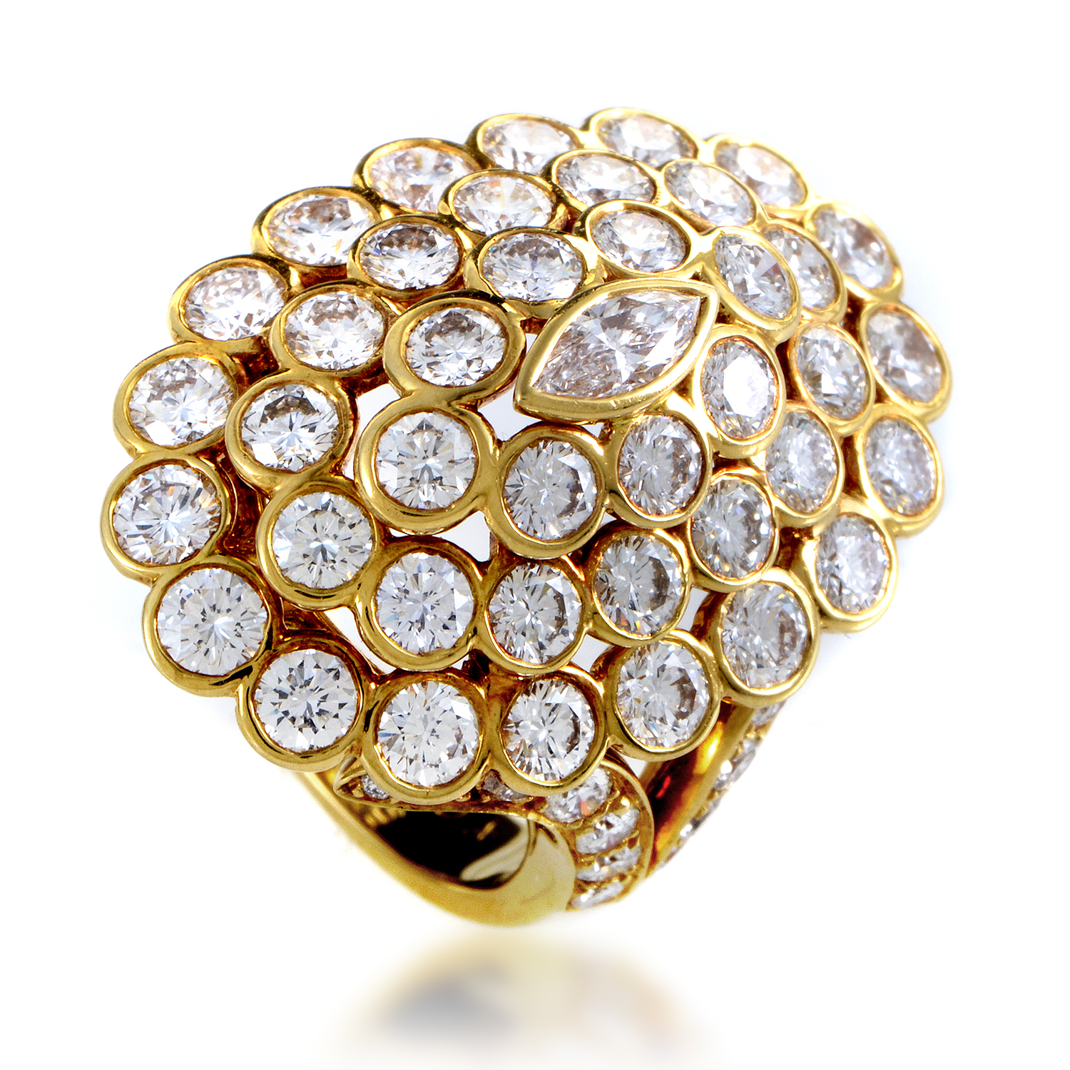 Cartier Women's 18K Yellow Gold Diamond Cluster Ring
